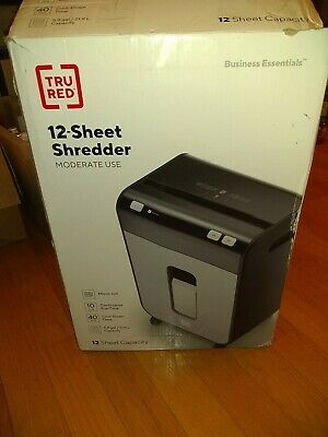 Tru Red 12-sheet Micro-cut Personal Shredder Tr-nmc122a New Open Box