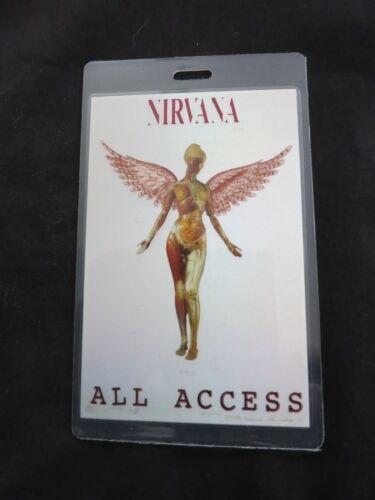 NIRVANA CONCERT PASS IN UTERO TOUR COA RARE! ALL ACCESS LAMINATE BACKSTAGE PASS
