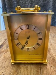 Vintage Seiko Westminster Whittington battery Quartz Carriage Mantle Clock
