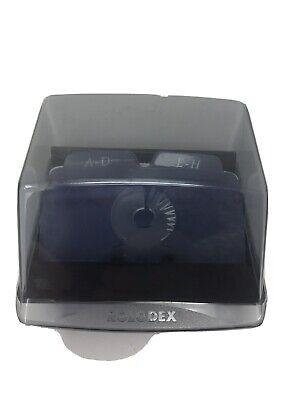Small Rolodex Flip Top Lid Dividers Business Card Holder Read Desc 4 X 4