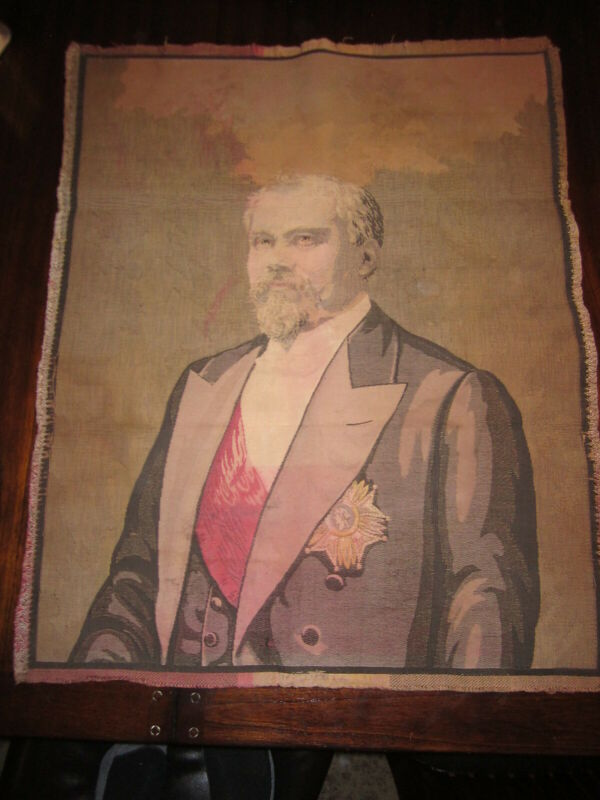 Frech Tapestry Portrait Legion of Honour Approx 26.5 x 33