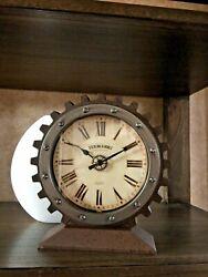 Industrial Look Tabletop Clock. Sterling & Noble Clock Company.
