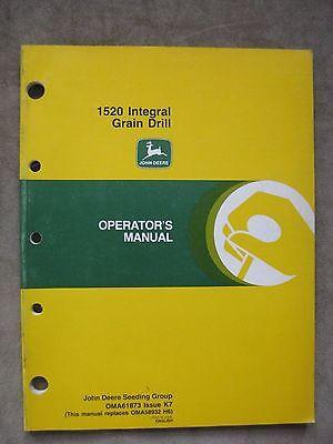 John Deere 1520 Integral Grain Drill Operators Manual Jdk7