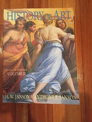 History of Art Vol. 2 by Janson 5th Edition Revised 1997 (Jansons History Of Art Volume 2 Revised Edition)