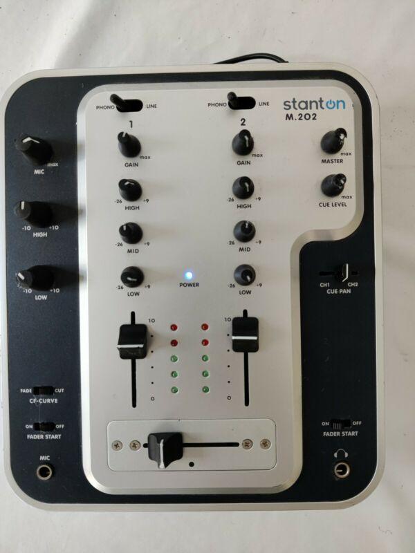 Stanton 2 Channel DJ Mixer M.202 With 9V AC adaptor