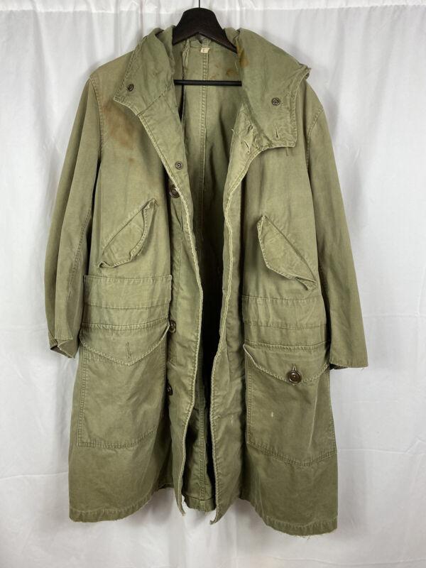 M1947 US Army Parka Jacket Dated 1952 Korean War Large