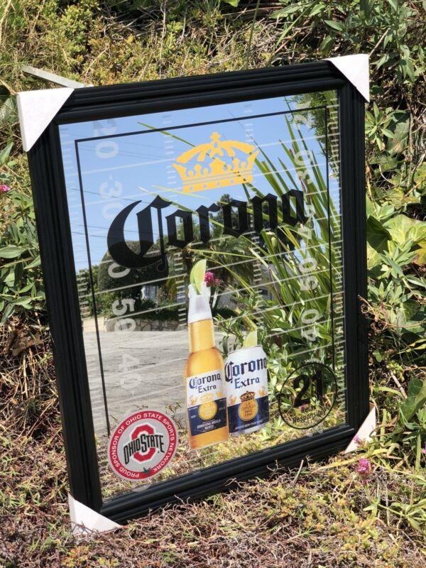 Corona Extra Ohio State Buckeyes Football Beer Bar Mirror Man Cave Pub New NCAA