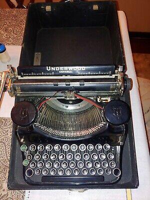 Underwood typewriter with case