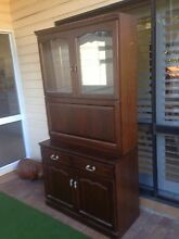Bar/display cabinet, solid timber with mirror and glass shelf Chapel Hill Brisbane North West Preview