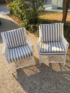 cane chairs x 2