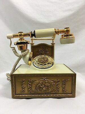 Vintage Deco-Tel American Communications Rotary Phone, French Victorian Style
