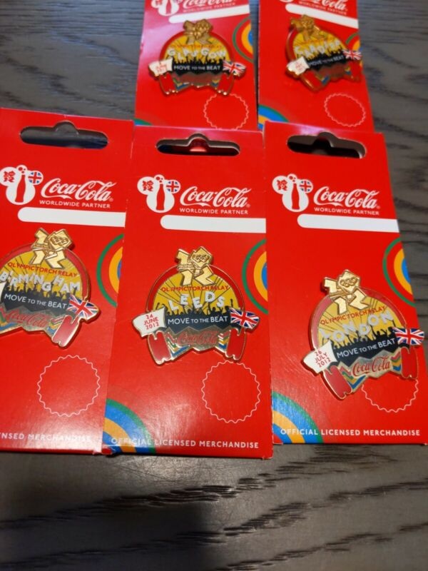 Coca-Cola 2012 Olympic Pins, UK, great Britain, London, sports,torch