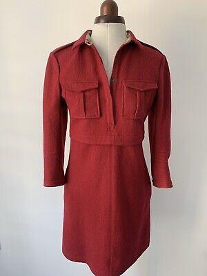 Burberry Brit Wool Dress Deep Pink 8UK