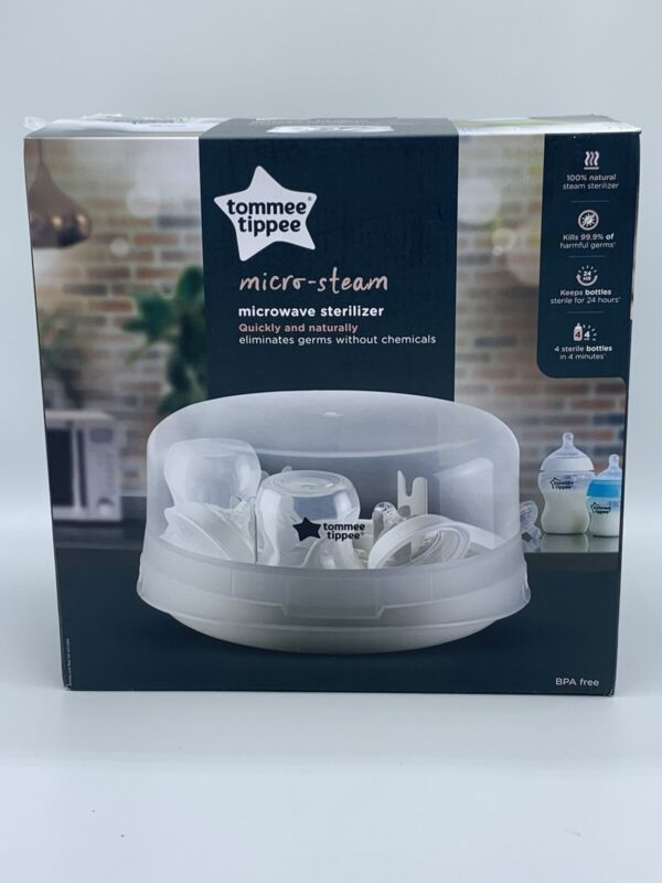 Tommee Tippee Microwave Travel Steam Baby Bottle Sterilizer, BPA-free