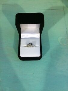 Cresent gold and diamonds heart shaped ring