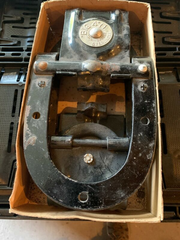 Vintage Pair Big 4 Single Wheel Barn Door Rollers National Mfg Co New Old Stock