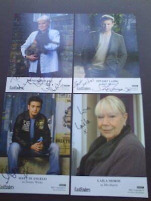 Eastenders 4 Genuine Signed Cards