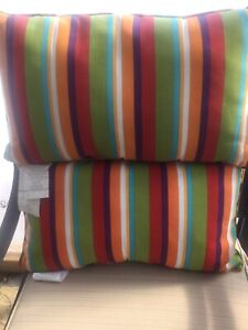 2 Striped Colour Pier One Outdoor Cushions (New w/tags)