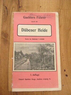alter Gaeblers Führer durch die Dübener Heide mit Karte + Plan von Düben um 1912