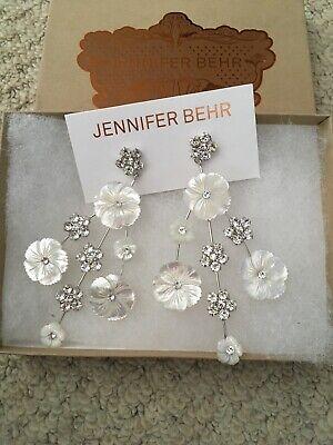 Jennifer Behr Mother Of Pearl And Crystal Eaarings