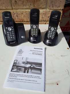 PANASONIC cordless phones set of 3