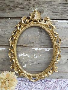 Large GOLD Ornate Baroque OVAL FRAME ~ Hollywood Regency ~ Wedding Photo Prop