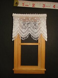Dollhouse Curtains - White Lace - 3