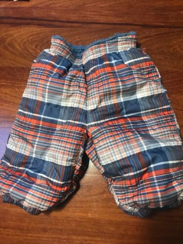 Patagonia Snow Pants Fleece Lined Reversible Plaid Baby Infant 3 Months