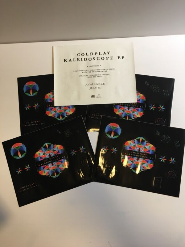 Set of 5 Coldplay - Promotional Sheet of 12 Stickers for Kaleidoscope Promo