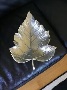 Deco- Silver Leaf Bowl