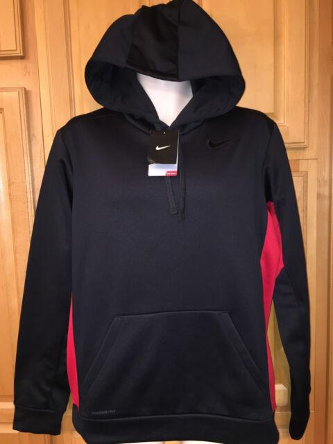 black and red nike hoodie