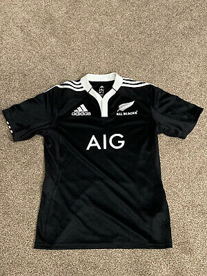 Mens New Zealand All Blacks Adidas Rugby Union Shirt, Size Small