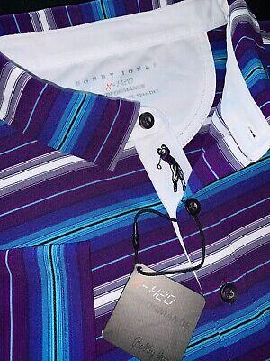 Bobby Jones Golf Apparel Short Sleeve XH2O Performance Jersey Solid Polo Shirt L