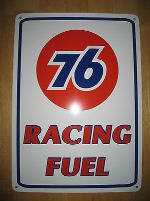 UNION 76 Racing Fuel Gas Pump SIGN Service Station Garage Mechanic Shop Ad