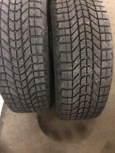 FIRESTONE WINTER FORCE SNOW TIRES, 4, 195 60 R15  on rims 280.00