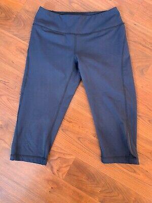 Zella Womens Blue Capri Crop Athletic Leggings Size Small