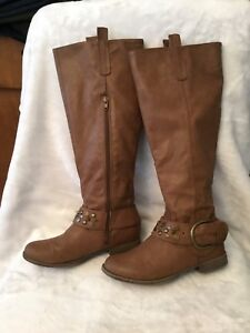 Ladies size 6.5 brown bamboo riding boots