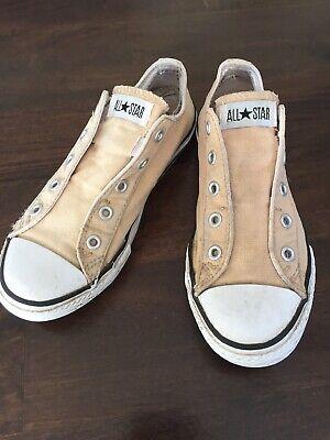 Converse Chucks All Star 34 Youth 2,5 Beige *N Halbschuhe Cremefarben Schuhe TOP ()
