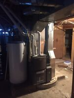Duct work, gas lines, furnaces, hot water tanks, air conditioner