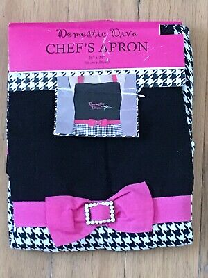 Kay Dee Design DOMESTIC DIVA BLACK Chef's Apron w/ Rhinestone Belt  NEW