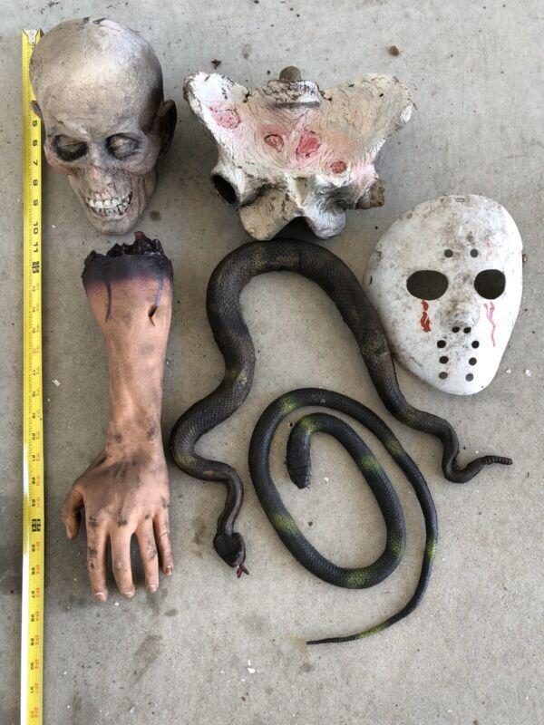 Vintage Astroland Coney Island Dante's Inferno Head Arm Snake Hockey Mask Props