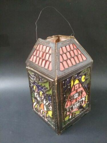 rare vintage german halloween paper lantern witch cat owl crow hansel gretel
