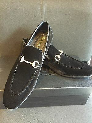 NEW CARRUCCI Black Loafer Men's Dress Velvet & Suede Leather Shoes Size 11