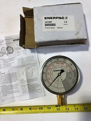 Enerpac Gf20p Hydraulic Pressure Gauge 0 To 10000 Psi 4 Rc-25t New