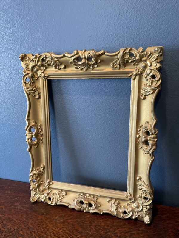 Ornate Gold Gilt Wood -Gesso Rectangular Picture Frame***Antique styling***