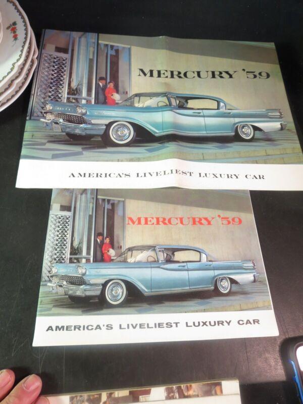 2 Original 1959 Mercury Sales Brochures