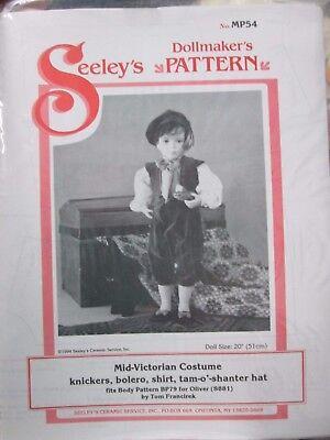 "Seeley's Dollmaker's Pattern #MP54 MID-VICTORIAN COSTUME knickers Bolero 20""doll"