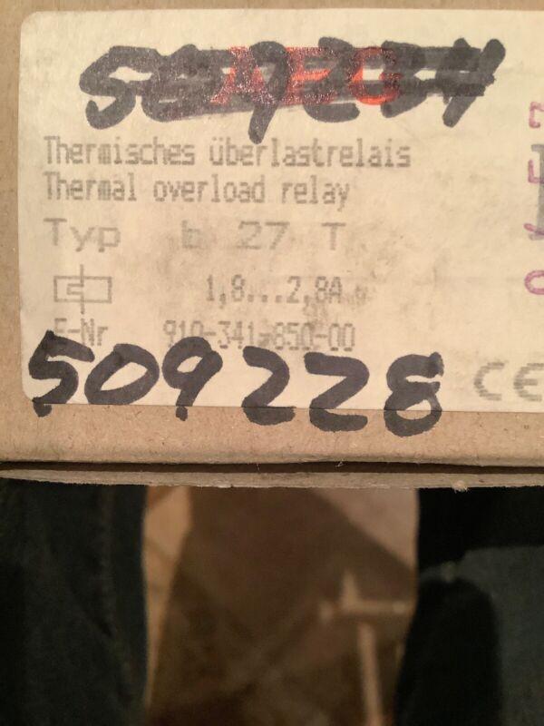 AEG Thermal Overload Relay Type B 27T