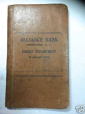 Rochester Ny Suffragette Ladies Department Alliance Bank Leather Savings Book