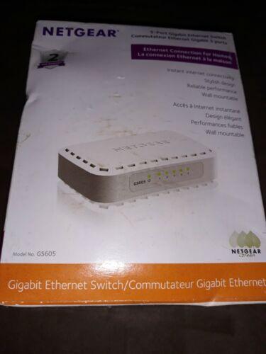 5 port gigabit ethernet switch gs605na new